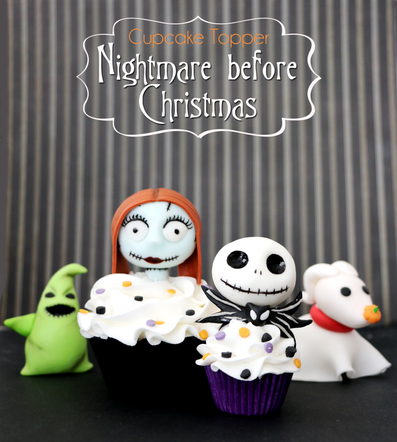 Nigtmare before Christmas CupCake Topper