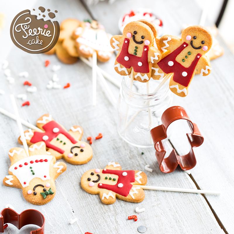 Cookies pop façon bonhomme pain d'épices