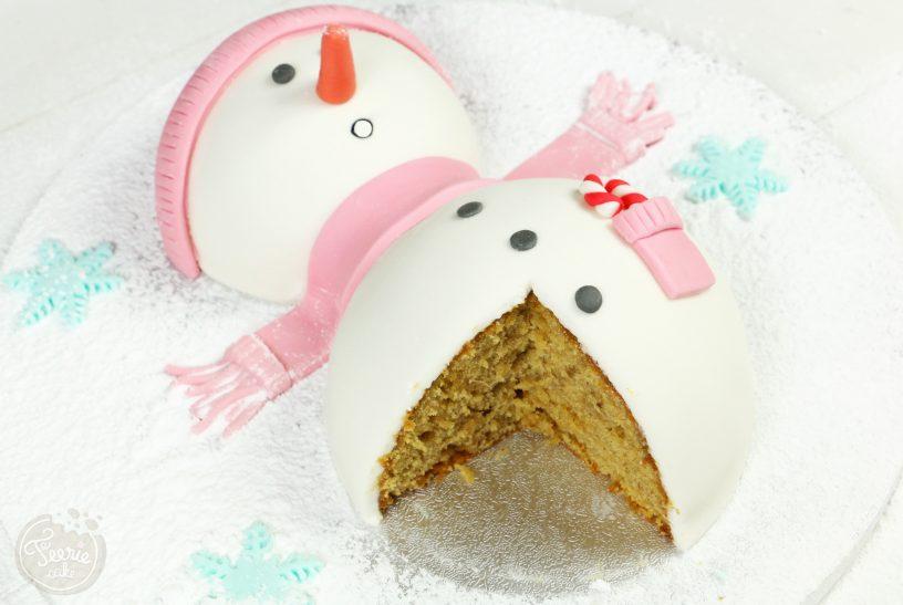 Bonhomme de neige en pâte à sucre