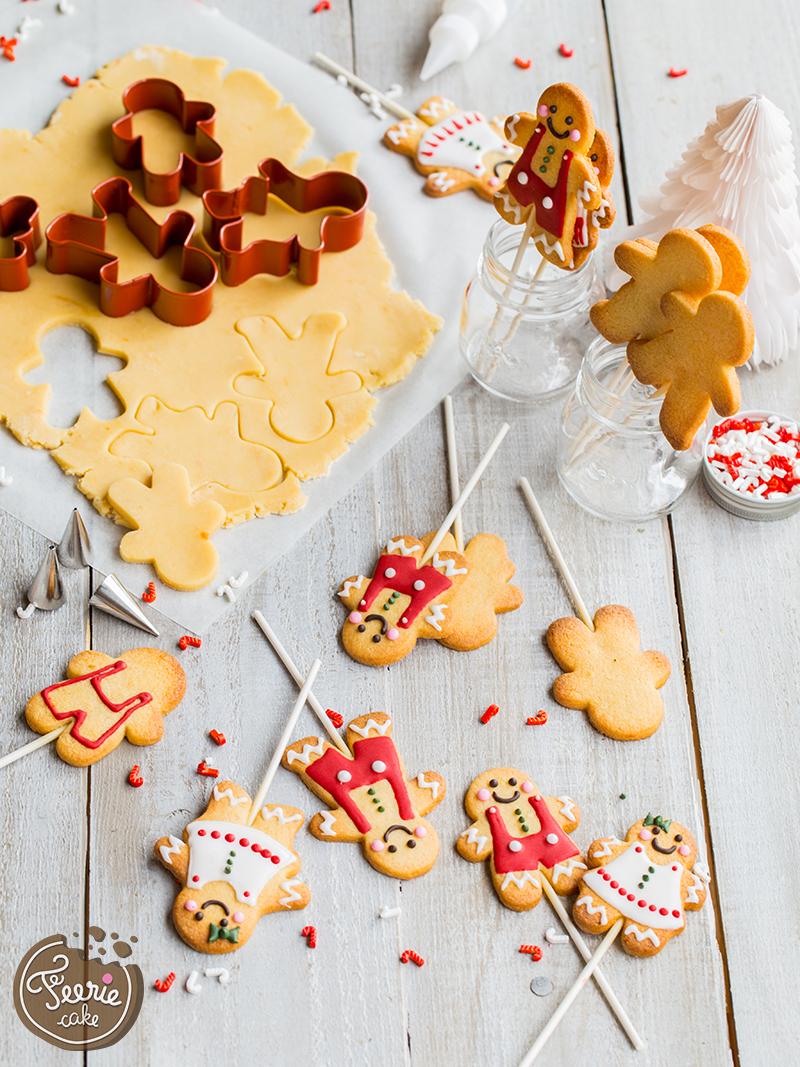 Cookies pop façon bonhomme pain d'épices 2