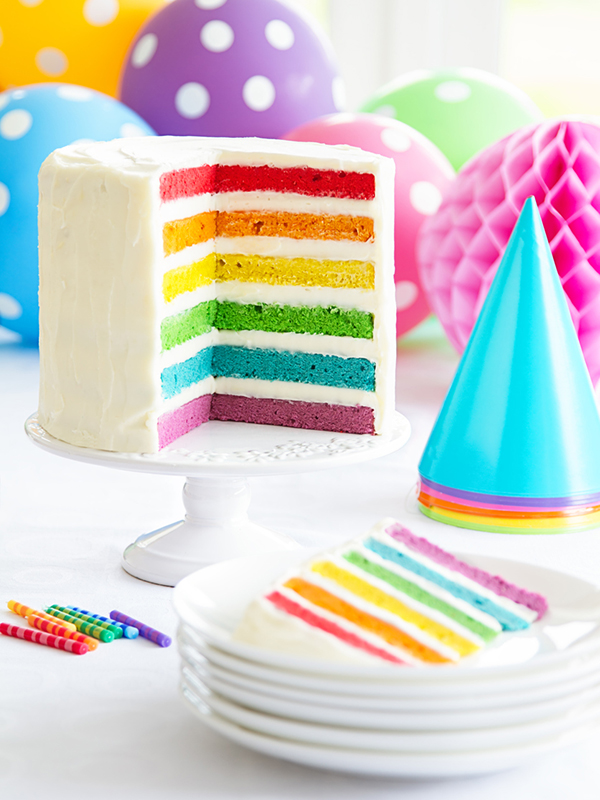 Ouh, le beau Rainbow Cake !