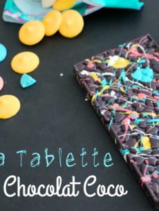 La tablette de chocolat coco