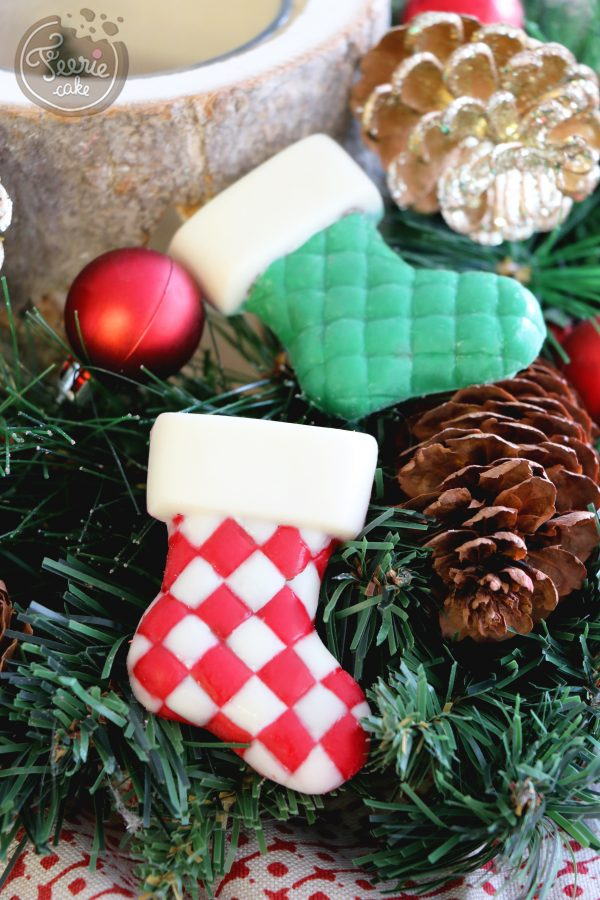 Chaussettes de Noël rouge et verte