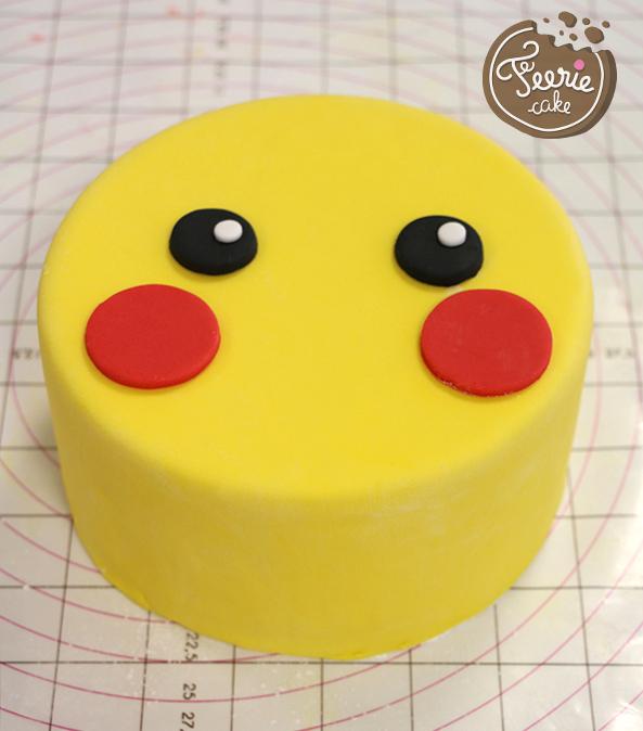 gâteau pikachu yeux