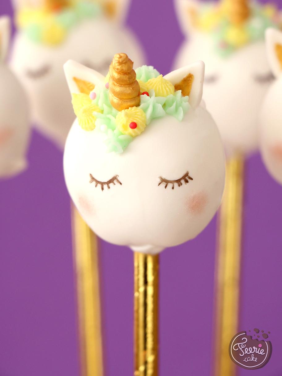 cake pops licorne tutoriel facile