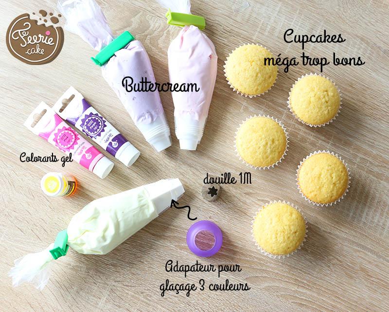 cupcakes licorne ingrédients