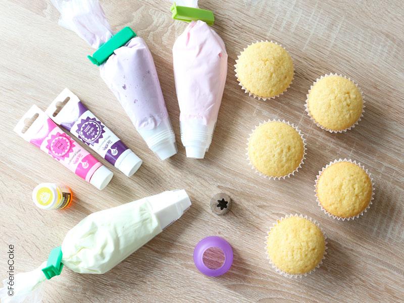 Tuto pâtisserie : le matériel et les ingrédients pour réaliser des cupcakes Licornes