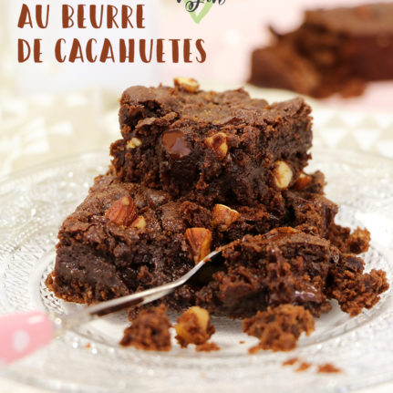 Brownies au beurre de cacahuètes (vegan)
