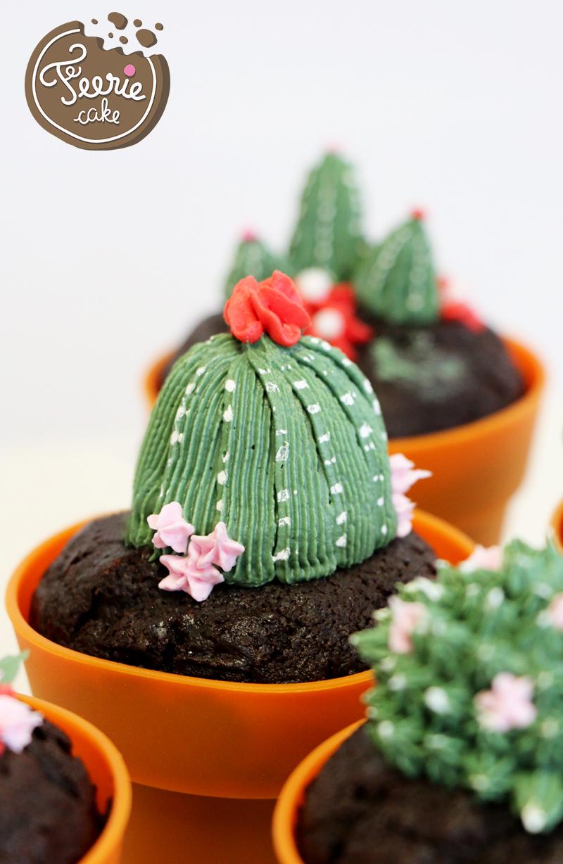cupcakes cactus fleur