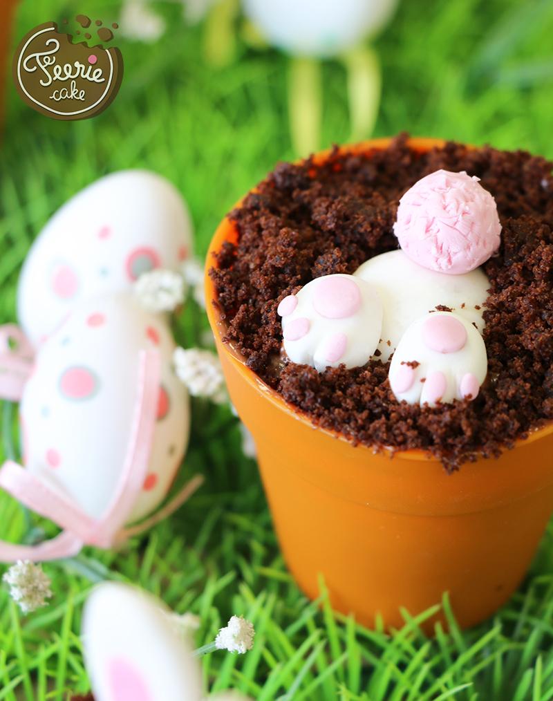 Oster-Cupcakes-Gemüsegarten hase modellierung