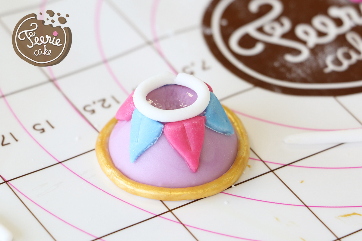 modelages en pâte à sucre zip tasse