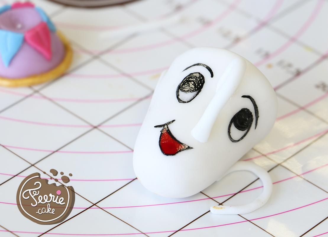 modelages en pâte à sucre zip visage