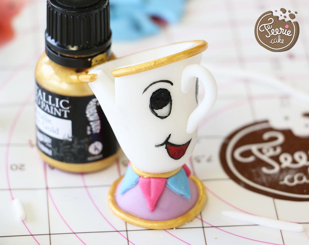modelages en pâte à sucre zip peinture