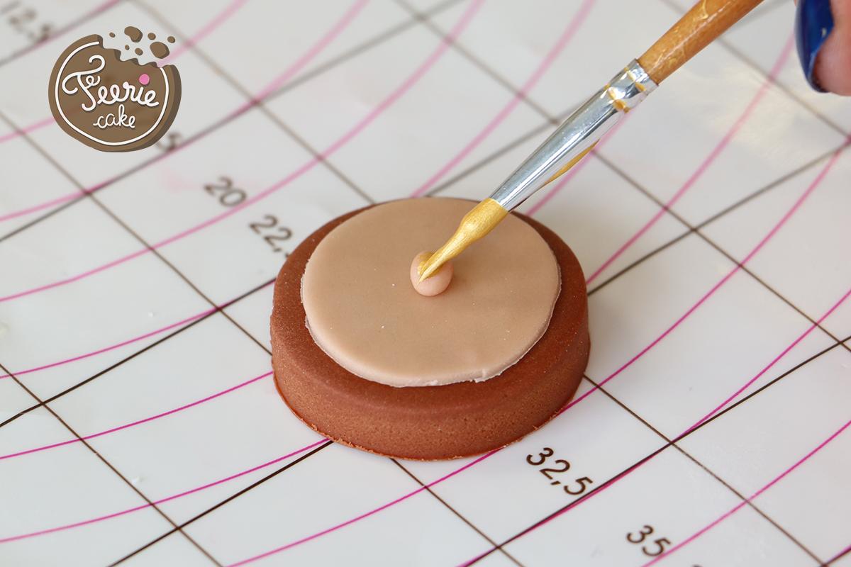 modelages en pâte à sucre bigben visage peinture