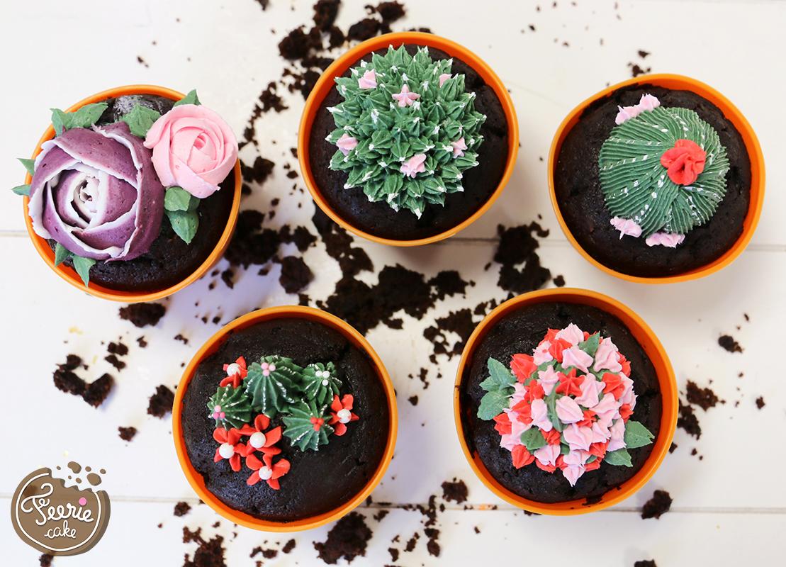 cupcakes jardin