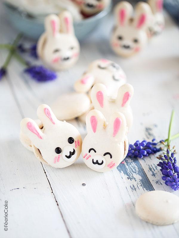 Recette de macarons de Pâques : les lapinous passion et chocolat