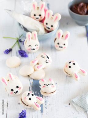 Les macarons de Pâques, passion et chocolat au lait