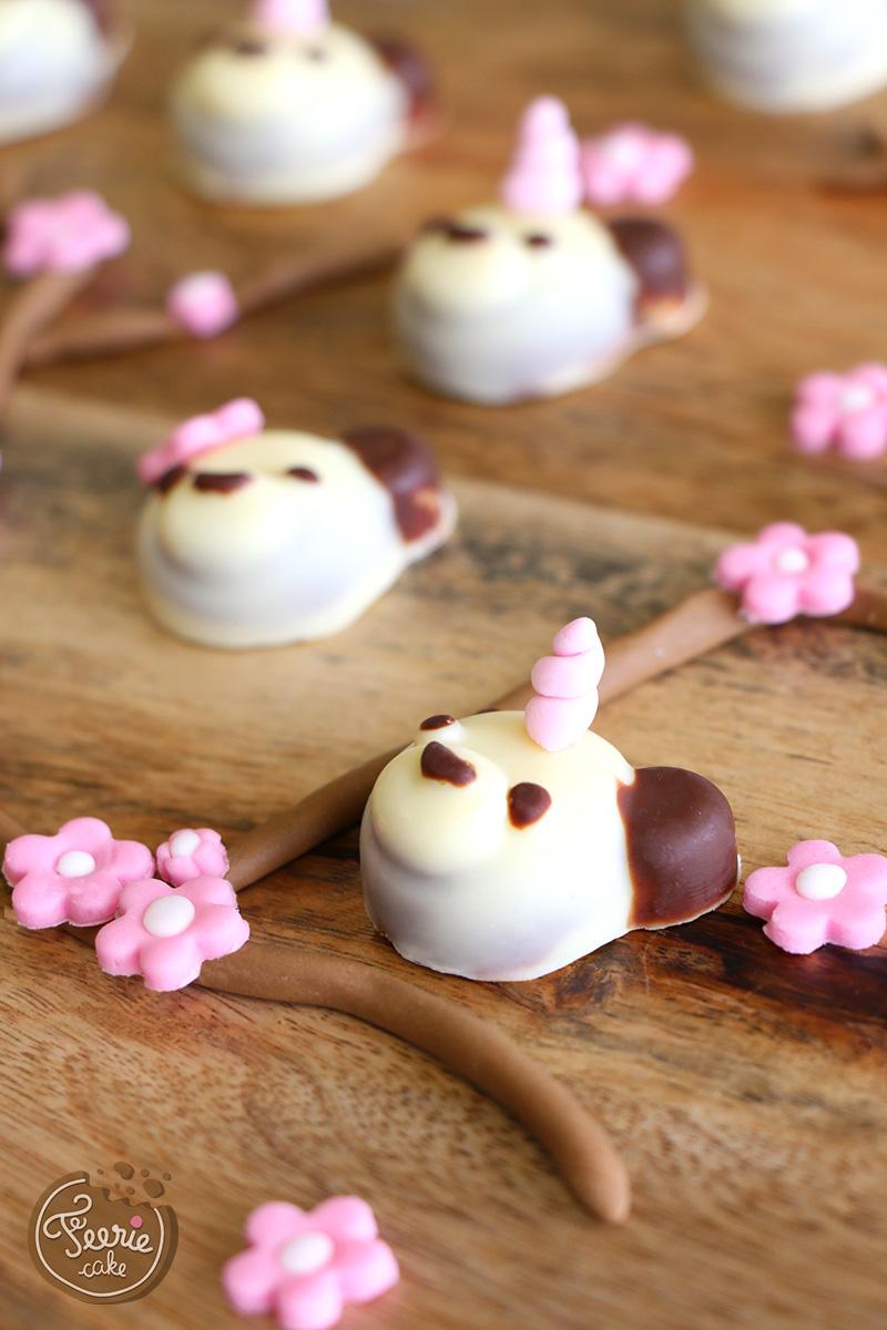 Pandas en chocolat