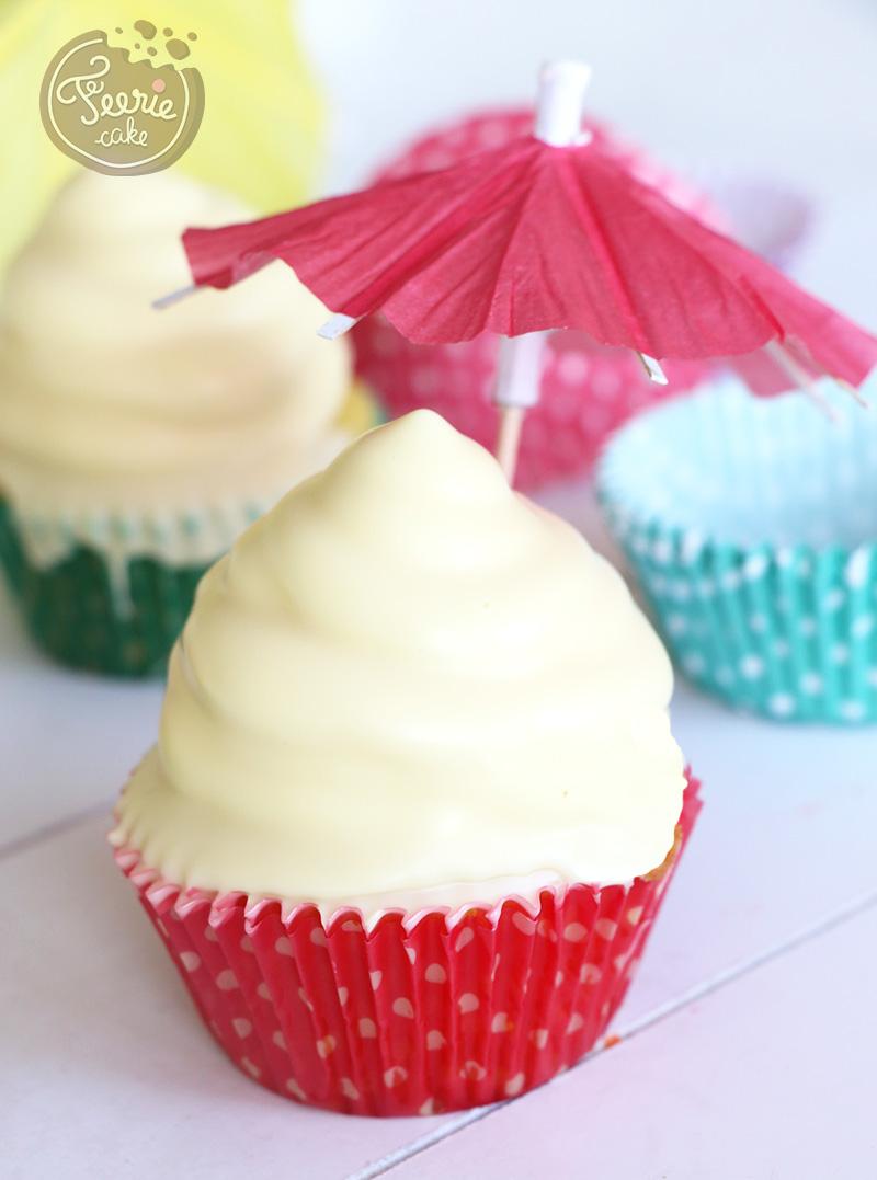 Cupcakes hit hat chocolat blanc