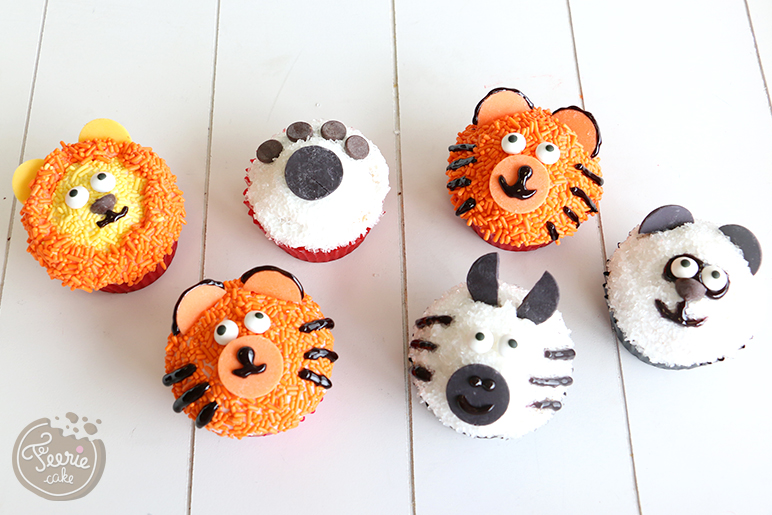 Les cupcakes Animaux