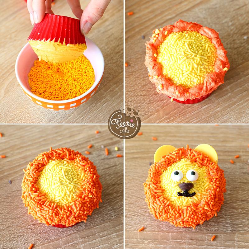 Die tierischen Cupcakes Löwe