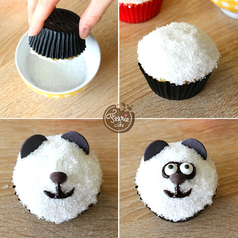 Die tierischen Cupcakes Pandabär