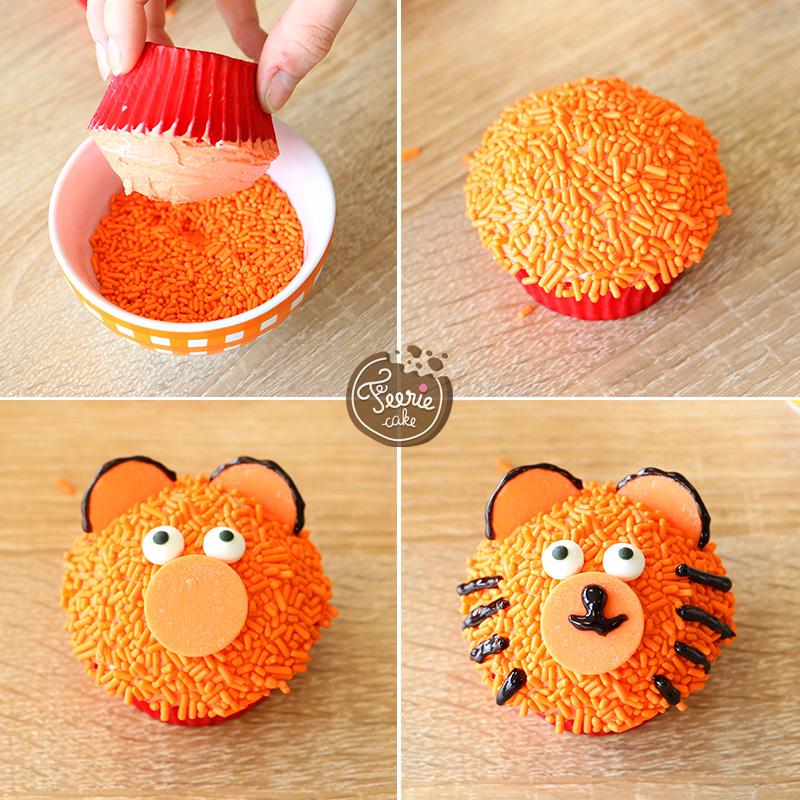 Die tierischen Cupcakes Tiger