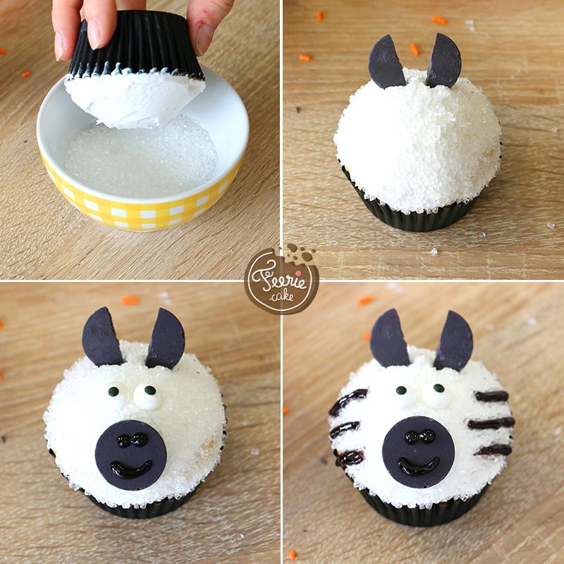 Die tierischen Cupcakes Zebra
