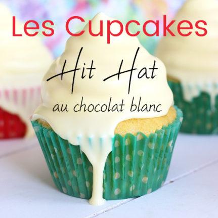 Cupcake à la ganache montée au chocolat blanc et au coulis de fruits rouges