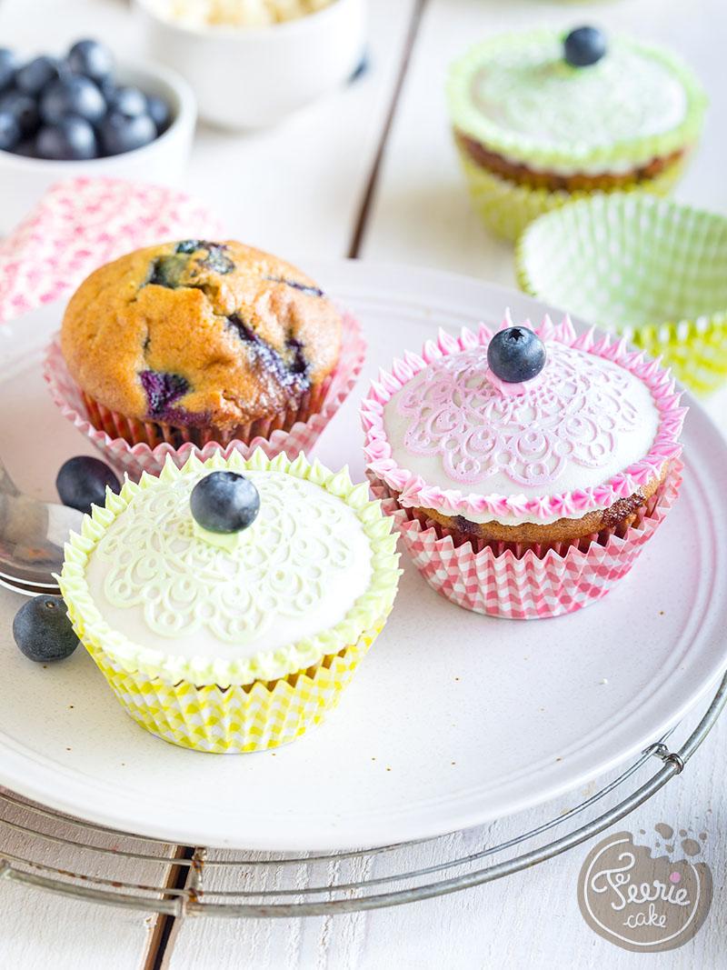 Cupcakes Myrtille chocolat blanc
