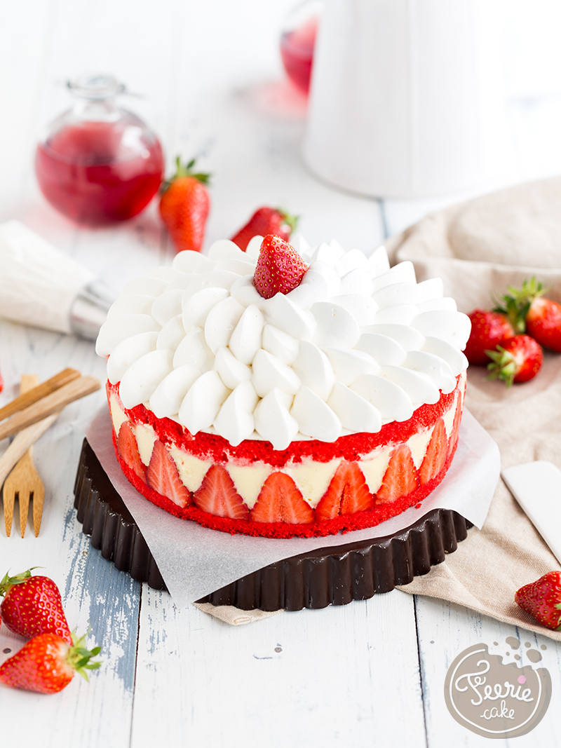 Le fraisier Chantilly