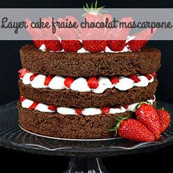 layer cake fraise chocolat