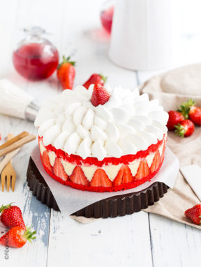 Le fraisier pâtissier à la chantilly