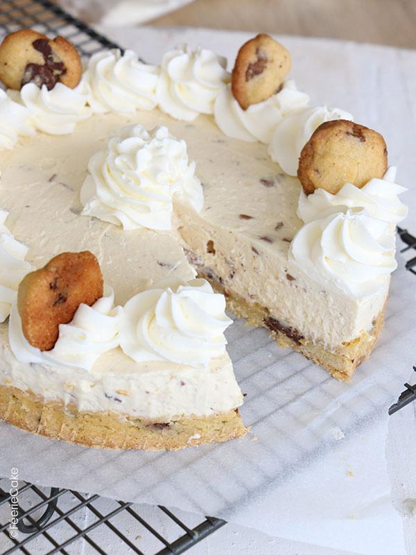 Recette du cheesecake presque sans cuisson avec cookies