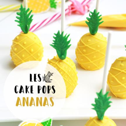 Cake pops ananas
