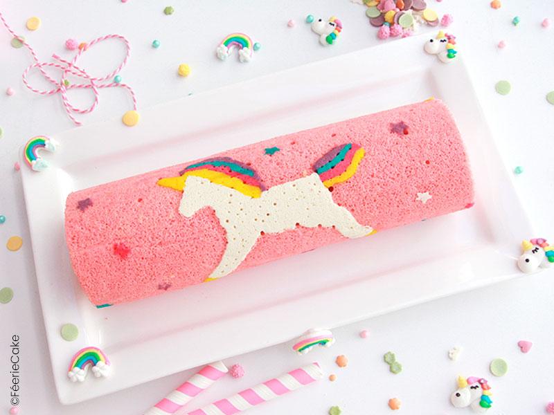 Recette du gâteau roulé licorne