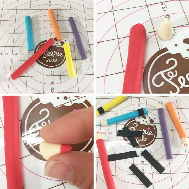 Réalisez des crayons en pâte à sucre