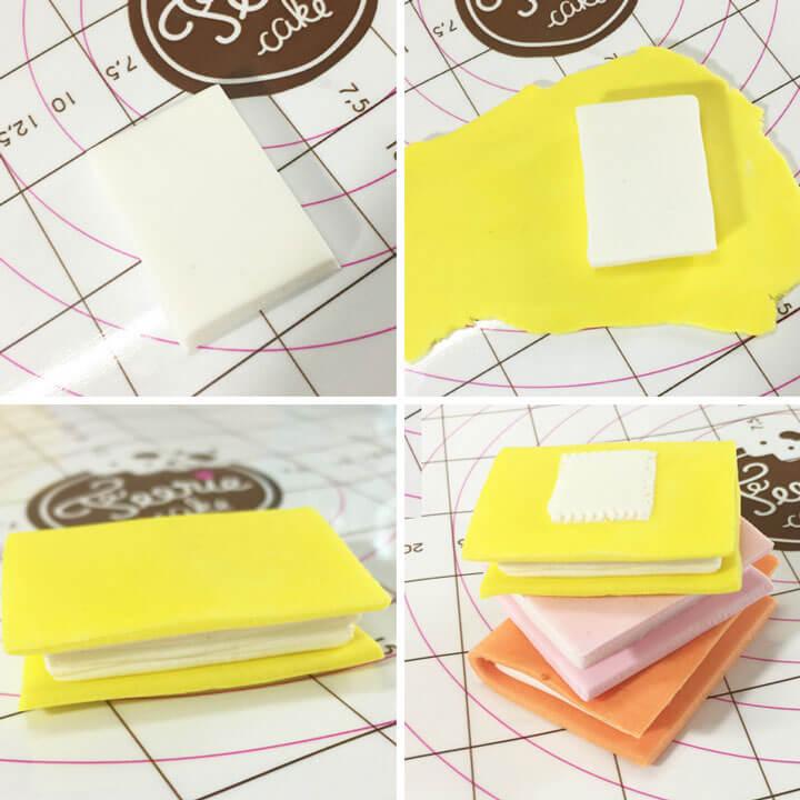Créez un livre en pâte à sucre