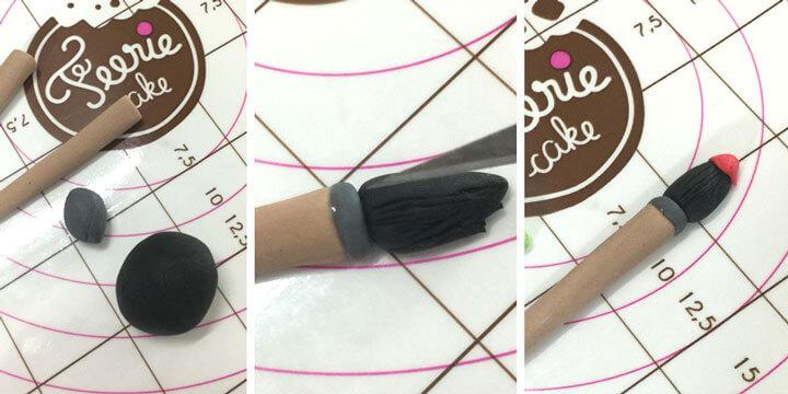 Réalisez des pinceaux en pâte à sucre