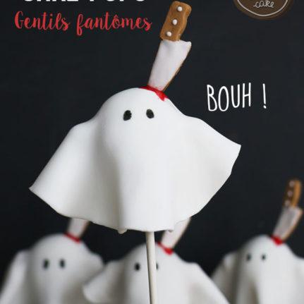 Cake pops gentils fantômes