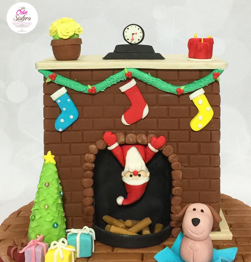 Le Père Noël descend par la cheminée