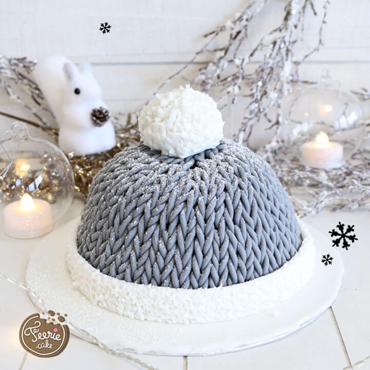 Le résultat du gâteau bonnet en laine