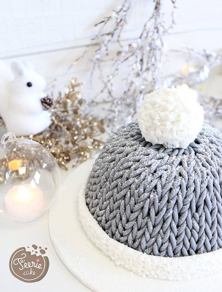 Le gâteau bonnet en laine