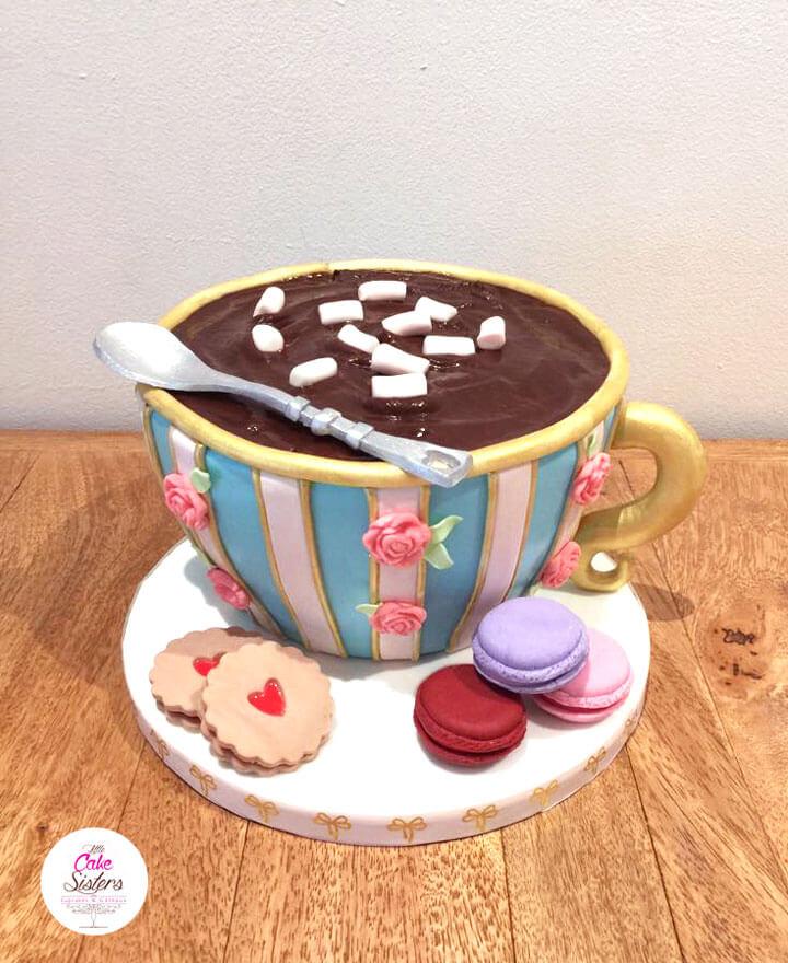 Le gâteau en forme de chocolat chaud des Little Cake Sisters