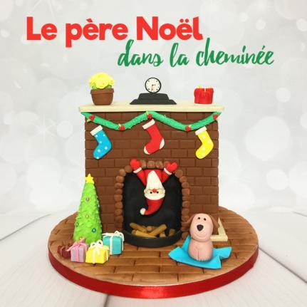 Le Père Noël descend par la cheminée !