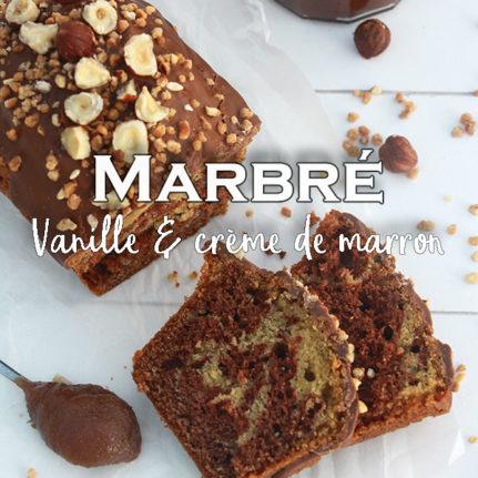 Cake marbré vanille-crème de marron