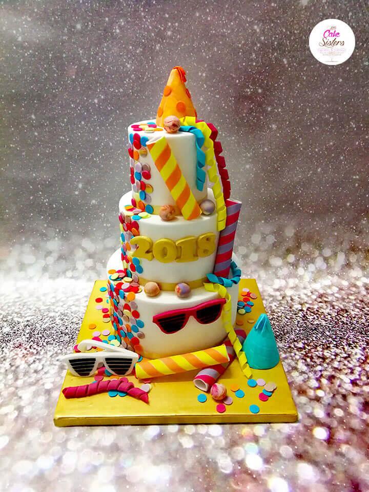 Un gâteau à étages pour fêter la nouvelle année
