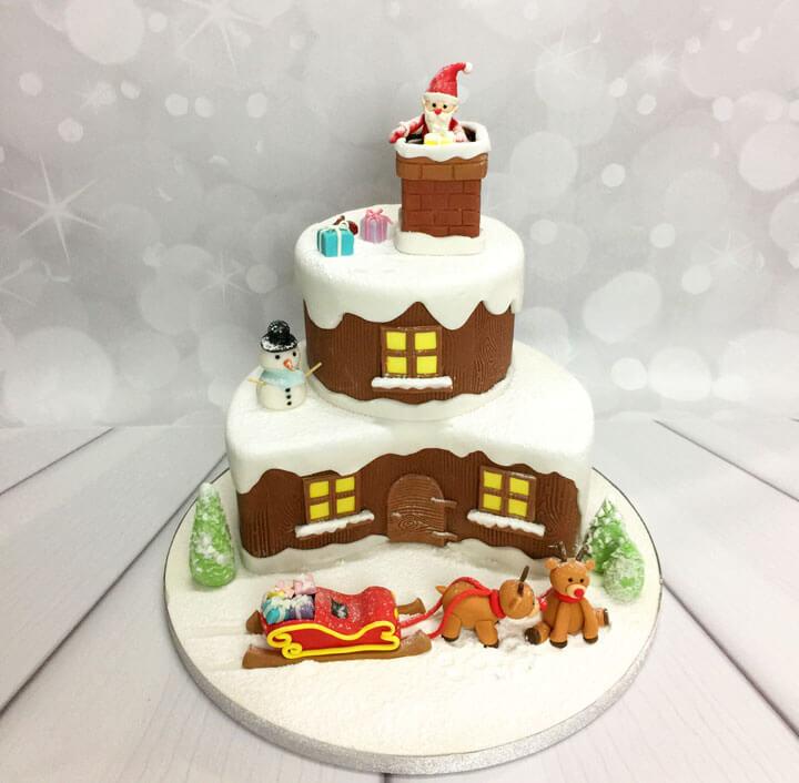 """Gâteau """"le chalet à la montagne"""" de Little Cake Sisters."""