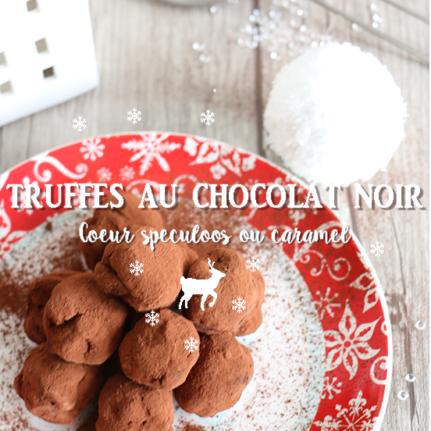 Truffes surprises au chocolat noir
