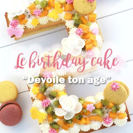Le gâteau d'anniversaire qui dévoile votre âge !